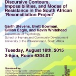 Tuesday, August 18th 2015 – The Ruse of Reconciliation?